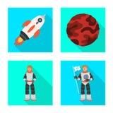 Progettazione di vettore di scienza e del simbolo cosmico Metta dell'icona di vettore di scienza e tecnologia per le azione royalty illustrazione gratis