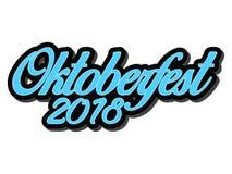 Progettazione di vettore di tipografia di Oktoberfest per le cartoline d'auguri ed il manifesto Insegna di vettore di festival de royalty illustrazione gratis