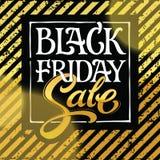 Progettazione di vettore di tipografia di vendita di Black Friday Fotografia Stock Libera da Diritti