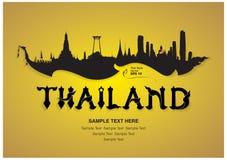 Progettazione di viaggio della Tailandia Fotografia Stock Libera da Diritti