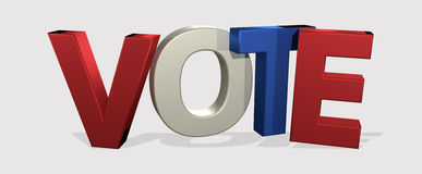 Progettazione di voto di voto 3D Render Fotografia Stock Libera da Diritti