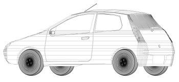 Progettazione di Wireframe dell'automobile Fotografia Stock