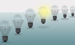 Progettazione digitale concettuale della lampadina Fotografie Stock Libere da Diritti