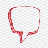 Progettazione disegnata a mano di simbolo dell'illustrazione di discorso della bolla Immagine Stock
