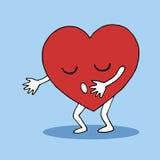 Progettazione disegnata a mano di vettore di simbolo del cuore di amore dell'abbraccio illustrazione vettoriale