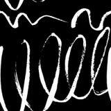 Progettazione disegnata a mano senza cuciture in bianco e nero di struttura per backgroun Immagini Stock Libere da Diritti