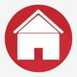 Progettazione domestica dell'icona Fotografia Stock Libera da Diritti