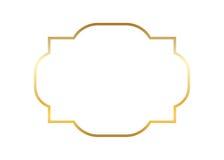 Progettazione dorata semplice della struttura dell'oro bella Immagini Stock