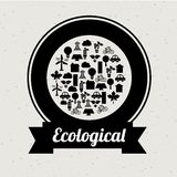 Progettazione ecologica di mente Fotografia Stock Libera da Diritti
