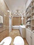 Progettazione elegante del bagno della Provenza Fotografia Stock Libera da Diritti