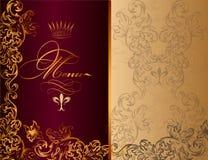 Progettazione elegante del menu nello stile reale illustrazione vettoriale