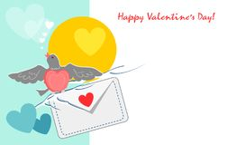 Progettazione esclusiva felice di giorno di biglietti di S. Valentino Amore & vita Sia il mio biglietto di S La carta del bigliet royalty illustrazione gratis