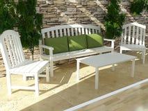 Progettazione esteriore. Apra il terrazzo. Immagine Stock