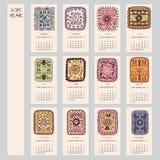 progettazione etnica del calendario da 2015 anni royalty illustrazione gratis