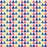 Progettazione etnica del modello senza cuciture dei triangoli illustrazione di stock