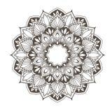Progettazione etnica della mandala - fiorisca il modello di orientale di stile Fotografie Stock