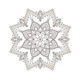 Progettazione etnica della mandala - modello della Boemia della mandala, stile del hennè Fotografia Stock