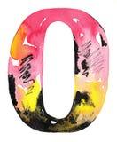 Progettazione fatta a mano di alfabeto dell'acquerello Immagine Stock Libera da Diritti