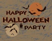 Progettazione felice del partito di Halloween Immagini Stock