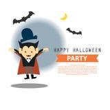 Progettazione felice dell'illustrazione del partito di Halloween illustrazione vettoriale