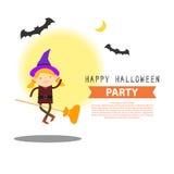 Progettazione felice dell'illustrazione del partito di Halloween illustrazione di stock