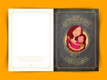 Progettazione felice della cartolina d'auguri di celebrazione di festa della Mamma Immagine Stock Libera da Diritti