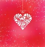 Progettazione felice della cartolina d'auguri di San Valentino Immagini Stock