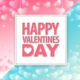 Progettazione felice della cartolina d'auguri di tipografia di giorno di biglietti di S. Valentino nello stile moderno illustrazione vettoriale
