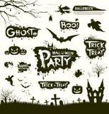 Progettazione felice delle collezioni di Halloween illustrazione di stock