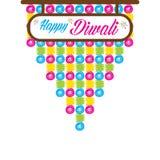 Progettazione felice di saluto di diwali illustrazione di stock