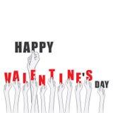 Progettazione felice di San Valentino Fotografia Stock