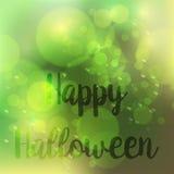 Progettazione felice di vettore del fondo di verde di Halloween della sfuocatura astratta illustrazione vettoriale