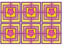 Progettazione fiorita delle mattonelle Fotografia Stock