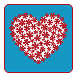 Progettazione floreale del cuore Immagini Stock Libere da Diritti