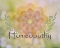 Progettazione floreale delicata di omeopatia Fotografia Stock