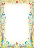 Progettazione floreale della pagina Immagini Stock
