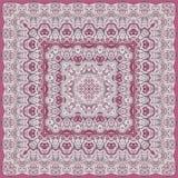 Progettazione floreale dettagliata della sciarpa Immagini Stock