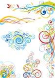 Progettazione floreale di colore Fotografia Stock Libera da Diritti