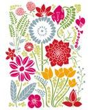 Progettazione floreale di estate di Natura del fondo Immagini Stock