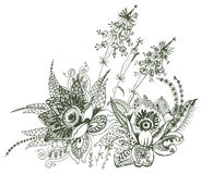 Progettazione floreale di Paisley Fotografia Stock Libera da Diritti