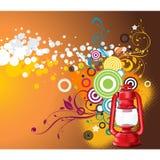 Progettazione floreale di vettore della lanterna Fotografia Stock