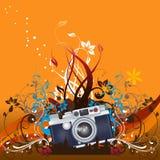 Progettazione floreale di vettore della macchina fotografica Fotografia Stock Libera da Diritti