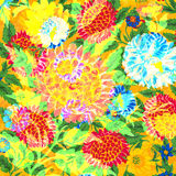 Progettazione floreale disegnata a mano piega Immagine Stock