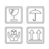 Progettazione fragile dell'illustrazione di simbolo dell'icona Fotografia Stock Libera da Diritti