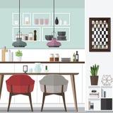 Progettazione fresca della sala da pranzo Fotografia Stock