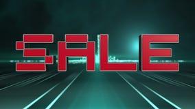 Progettazione futuristica del testo di vendita 3D illustrazione di stock