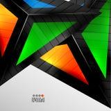 Progettazione geometrica astratta 3D Fotografie Stock Libere da Diritti