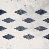 Progettazione geometrica astratta del fondo delle nuvole Forme geometriche con una struttura naturale Retro progettazione dell'et fotografia stock libera da diritti