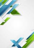 Progettazione geometrica astratta dell'aletta di filatoio di tecnologia di verde blu royalty illustrazione gratis