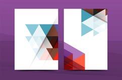 Progettazione geometrica del mosaico, copertura corporativa della lettera della corrispondenza di affari di dimensione a4 illustrazione vettoriale